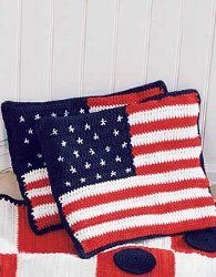 Can't wait to make these!! Stars and Stripes Cushions | AllFreeCrochet.com