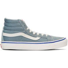fe88ff9921 Vans Blue Suede OG Sk8-Hi LX Sneakers (€69) ❤ liked on