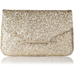 L.K. Bennett Dahlia Glitter Clutch Bag found on Polyvore