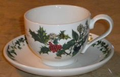 "Portmeirion ""The Holly & The Ivy"" Cup & Saucer - Made in Britian"