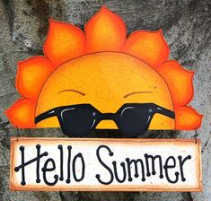 Summer Wood Welcome Sign - Door or Wall Decoration