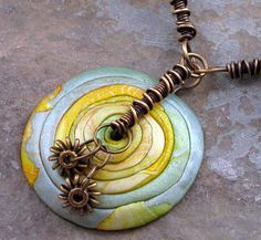 Rite of Spring focal - polymer clay