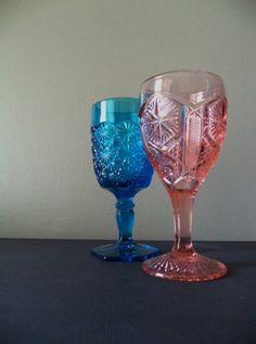 Vintage Goblets Drink & Barware Glasses Pink by SPARKLESandSASS
