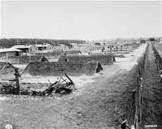 Barracks at Kaufering Subcamp of Dachau    (April 29, 1945)            View of barracks after the liberation of Kaufering, a network of subsidiary camps of the Dachau concentration camp. Landsberg-Kaufering, Germany.