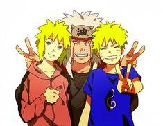 Jiraiya Naruto   Minato, Naruto, & Jiraiya - Minato Namikaze Fan Art (25304270 ...