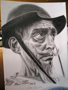 dibujo mio (olekike) de Don Quijote pencil drawing and coal. Pencil Drawings, 2 Pencil, Man Of La Mancha, Dom Quixote, Character Design, Statue, Wood Burning, Artworks, Painting