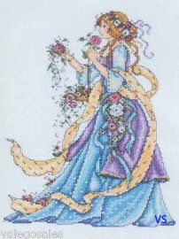 Design Works Counted Cross Stitch Kit - Rose Lady