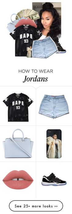 """I'm Radioactive〽️"" by brxtn3y on Polyvore featuring MICHAEL Michael Kors and A BATHING APE"