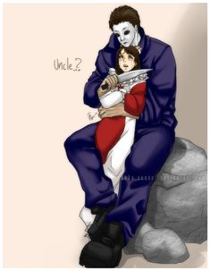 Halloween_Uncle Michael and Jamie by Anko-sensei on DeviantArt Michael Myers, Michael X, Slasher Movies, Horror Movie Characters, Horror Movies, Horror Film, Halloween Jamie, Halloween Film, Halloween 2018