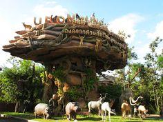 """""""อุทยานสัตว์ป่าอุบลราชธานี"""" (Ubon Jungle Park) หรือเรียกสั้น ๆ ง่าย ๆ ว่า """"สวนสัตว์อุบล"""" เพราะเป็นที่เที่ยวแห่งใหม่ขวัญใจเด็ก ๆ ที่อยากจะไปสัมผัสกับความน่ารักน่าชังและตื่นตาตื่นใจกับสัตว์น้อยใหญ่นานา ชนิด วันนี้กระปุกท่องเที่ยวเลยอยากจะชวนเพื่อน ๆ ไปเที่ยวสวนสัตว์อุบลฯ กัน เผื่อใครแวะเวียนหรือมีโอกาสไปแถว ๆ นั้นจ้า จาก http://www.dooasia.com/trips/อุบลราชธานี-อุทยานสัตว์/"""