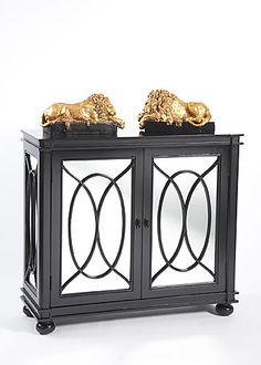 """Furniture. Mirrored chest with black finish. Option 7:Chelsea House Width 38.0"""" Height 34.5""""  Depth 14.0"""""""