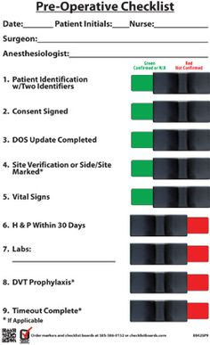 Who Surgical Safety Checklist   Google Search  Perioperative