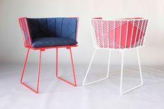 Muebles y complementos de rejilla, de Bend: silla con brazos