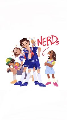 Nerds and proud of it! Watch Stranger Things, Stranger Things Aesthetic, Stranger Things Season 3, Stranger Things Netflix, Stranger Danger, Aesthetic Wallpapers, Cute Wallpapers, Nerd, Sketches