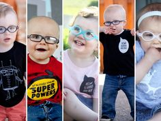 Cool shirts for kids who wear glasses, eye patched or are visually impaired. Eye Power Kid's Wear by Jessica Butler — Kickstarter