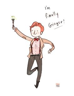 Noelle from GingerHaze is my newest favorite person ever. This is her self-portrait as the 11th doctor, a perennial boy-crush of mine.