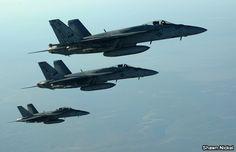 Nueva oleada de bombardeos en Siria e Irak