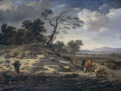 Landscape with Cattle on a Country Road  Jan Wijnants