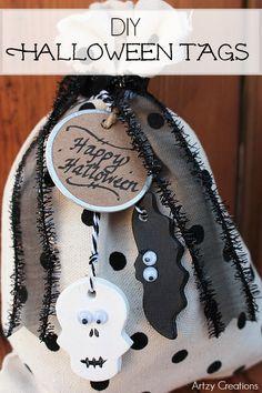 Artzy Creations DIY Halloween Tags