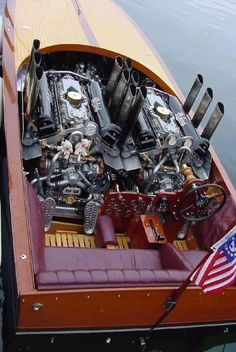 Building a boat. a FAST boat! - First ingredient 2 Super High Performance engines. Ski Nautique, Wooden Speed Boats, Classic Wooden Boats, Boat Engine, V12 Engine, Fast Boats, Vintage Boats, Float Your Boat, Old Boats