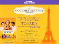 World Market's Gourmet Getaway Sweepstakes