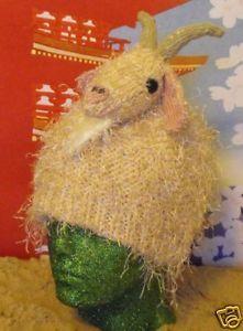 Knitting Pattern Only Nancy Nanny Goat Beanie HAT Knitting Pattern MAD   eBay