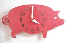 The Possu designer wall mounted clock from LeLuni This Little Piggy, Little Pigs, Pig Kitchen, Cute Piglets, Piggly Wiggly, Pig Art, Mini Pigs, Miss Piggy, Baby Pigs
