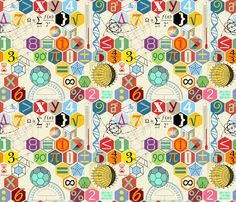 Math in color fabric by chicca_besso on Spoonflower - custom fabric Science Fair Projects, Science Experiments Kids, Craft Projects, Framed Art Prints, Canvas Prints, Acrylic Box, Iphone Skins, Moon Phases, Custom Fabric