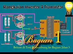 INVERTER 4 TRANSISTOR SEDERHANA (BELUM DI TEST KE LAMPU YA) - YouTube Dc Ac, Circuit Diagram, Diy Electronics, Map, Youtube, Electronic Engineering, Audio Amplifier, Renewable Energy, Technology
