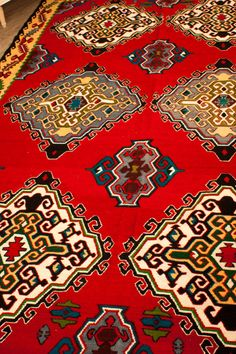 Turkish Area Rug Vintage Hand Woven Kilim Carpet by KilimLand