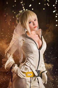 Saber Bride Cosplay by Senya Miku