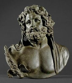 Bust of Jupiter First - 2nd Century AD, after Greek model of the 2nd Half of the 4th Century BC.