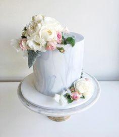 Marble #2 from last week… Buttercream Birthday Cake, 13 Birthday Cake, 17th Birthday, One Tier Cake, Single Tier Cake, Rehearsal Dinner Cake, Fondant, Bling Cakes, Marble Cake