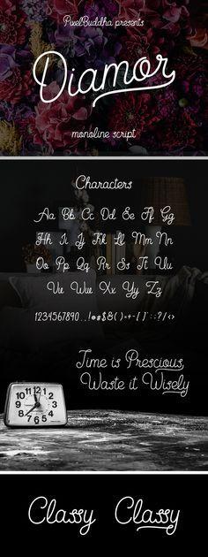 Free Font: Diamor Script (958 KB) | PixelBuddha | #free #font #script