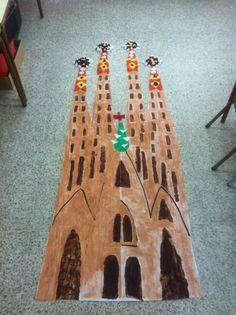 Façana Sagrada Família (pintada amb fang i xocolata)