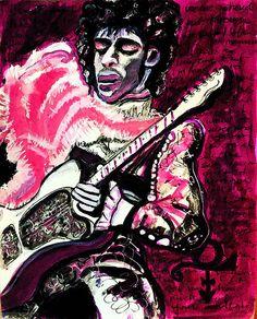 illustration portfolio of artist Kimberley Wiseman #prince,#princelove,#purplerain