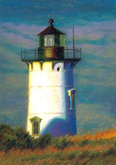 327 Lighthouse at the Point – Nancy Poucher takes her soft pastels to the water's edge to capture the beauty of her Cape Cod surroundings.