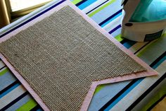 great tutorial for burlap banner