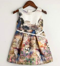 Cute Party Dress - High Quality - Cute Printed Sleeveless Knee Length Liitle Girl Dress Perfect for birthday, wedding, summer party or other occasion Material: cotton, polyester Available from 2 - 16 years