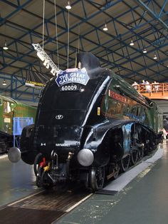 LNER A4 60009 Union of South Africa in the NRM Great Hall (05/07/2013) | Flickr - Photo Sharing! Steam Trains Uk, Old Steam Train, Work Train, Train Car, Diesel Locomotive, Steam Locomotive, Old Train Pictures, Union Of South Africa, Train Posters