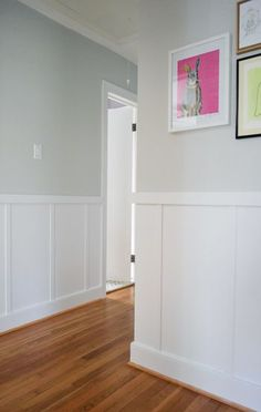 Moonshine by Benjamin Moore--light, soothing gray that looks great with white trim and colorful accents.