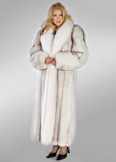 Brrrr......white fur coat