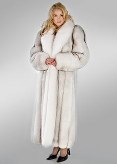 Brrrr......white fur coat