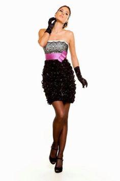 Vestido de fiesta corto de Sonia Peña.