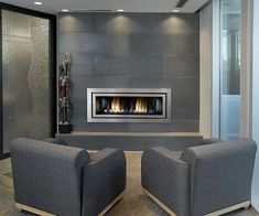 Solus Cast Concrete Tiled Fireplace 16x48 in Shiitake by Solus Decor, via Flickr