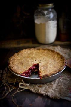 Raspberry Basil Pie