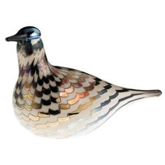 iittala Birds of Toikka Mouthblown Glass Bird, Bulrush Curlew Glass Birds, Scandinavian Design, Vintage, Art, Crystals, Art Background, Kunst, Vintage Comics, Performing Arts