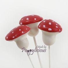 Cake pop herfst paddenstoelen www.poppylicious.nl