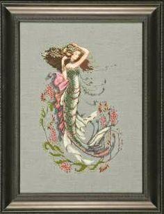 Schema punto croce - The South seas mermaid   Hobby lavori femminili - ricamo - uncinetto - maglia