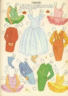 Cinderella outfits for Anne, Jill, Peggy, Marie and Kathie